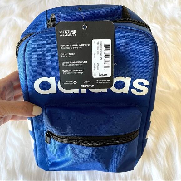 Blue heavy duty Adidas insulated lunch bag
